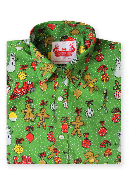 Christmas Shirt folded Xmas Patterned Funky christmas jumpers mens shirt xmas sweater longsleeve xmas top mens unisex womens green jacket