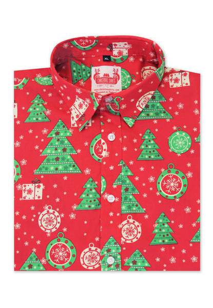 Christmas Tree Shirt perfect gift for a man and christmas jumper party alternative.