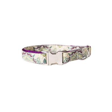 Purple Mulberry Dog Collar Silver Collection