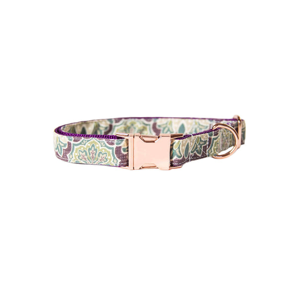 Purple Mulberry Dog Collar Rose Gold Collection