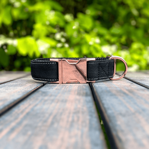 Onyx Dog Collar Rose Gold Collection