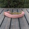 Pink Champagne Martingale Dog Collar Gold Collection