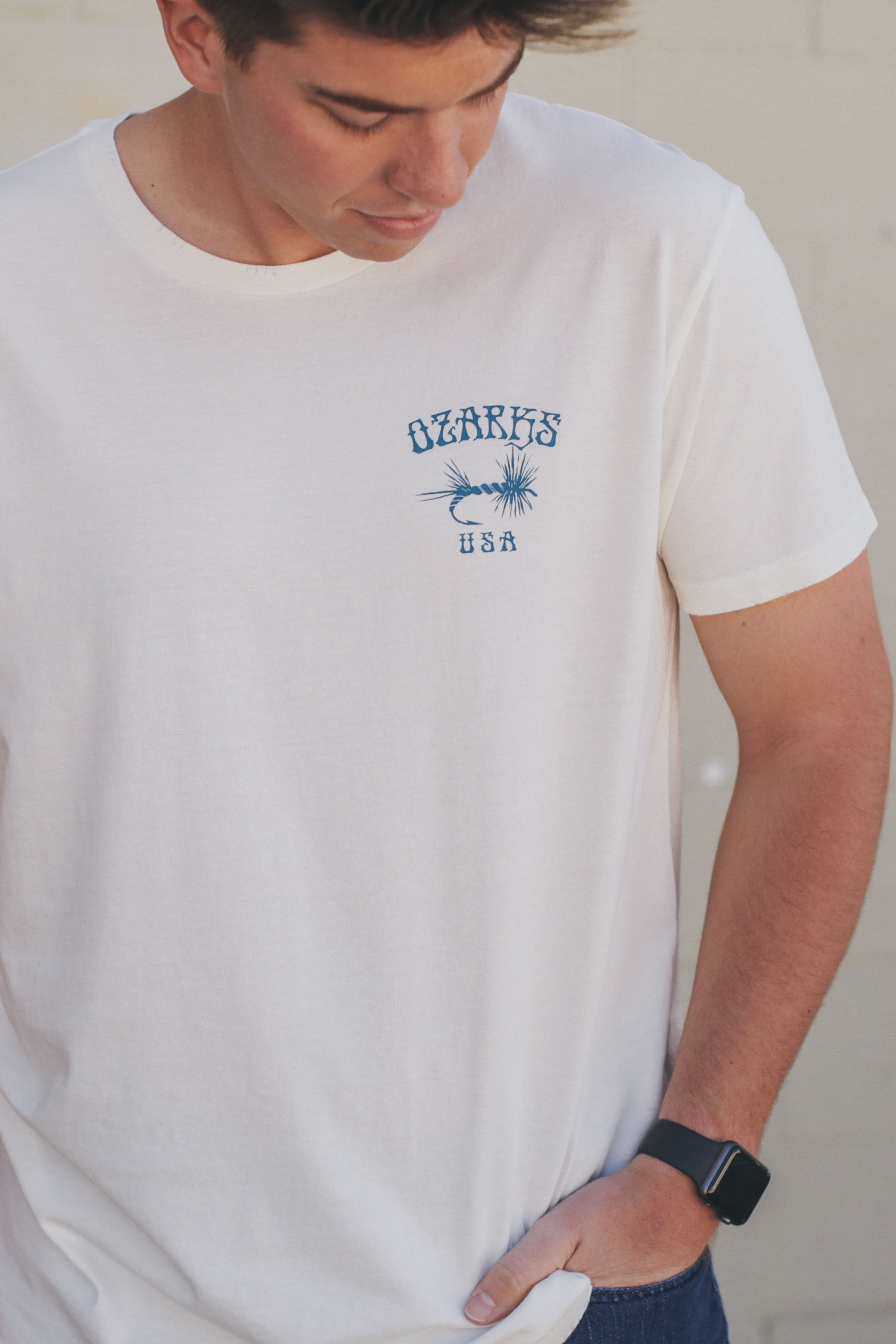 Fish the Ozarks T-Shirt Vintage White