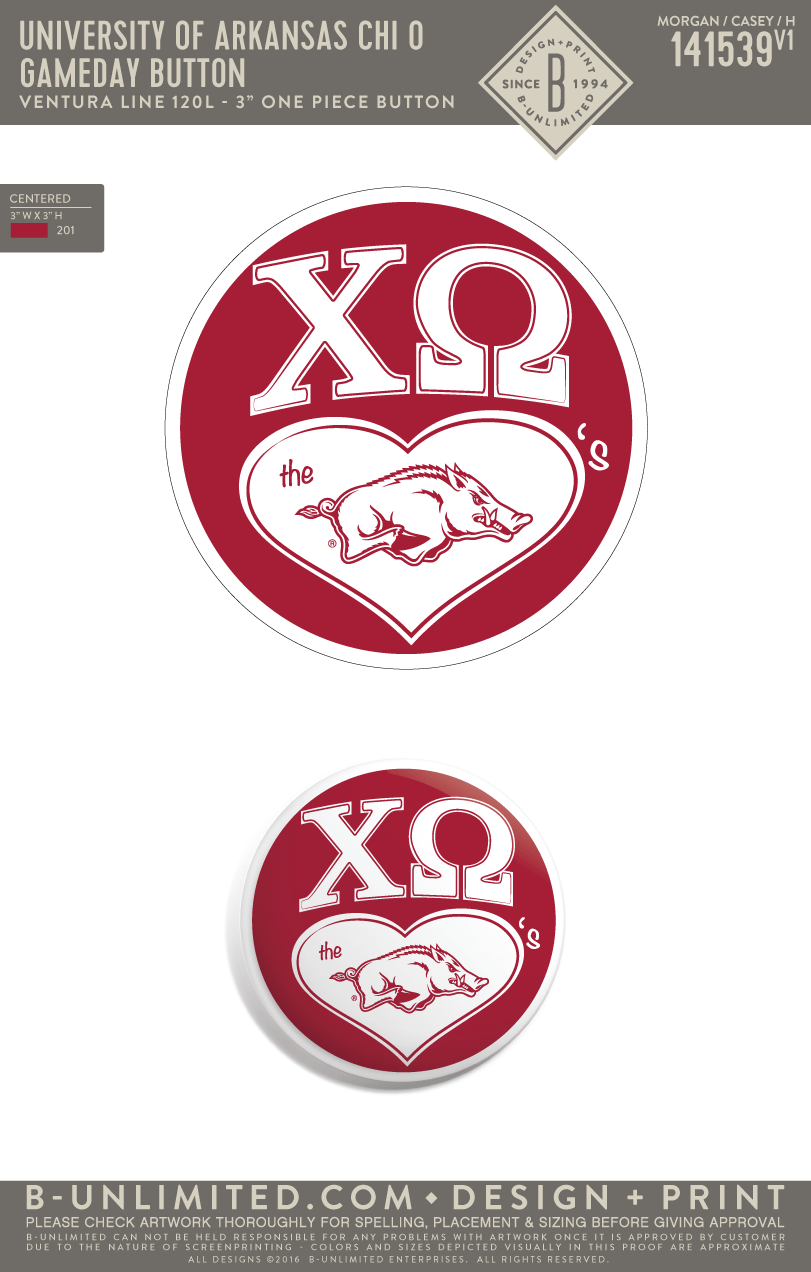 REORDER2 UofA Chi O - Gameday Button