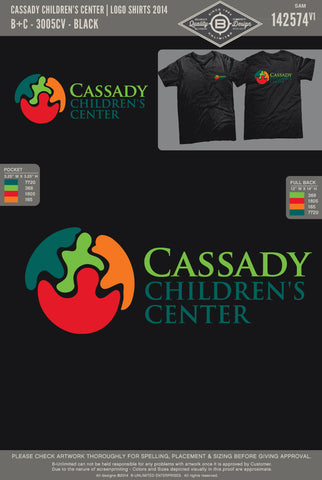 Cassady Children's Center-Logo Tee (Black)