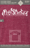 Playstrong Therapy - Logo Shirt (Maroon Marble)