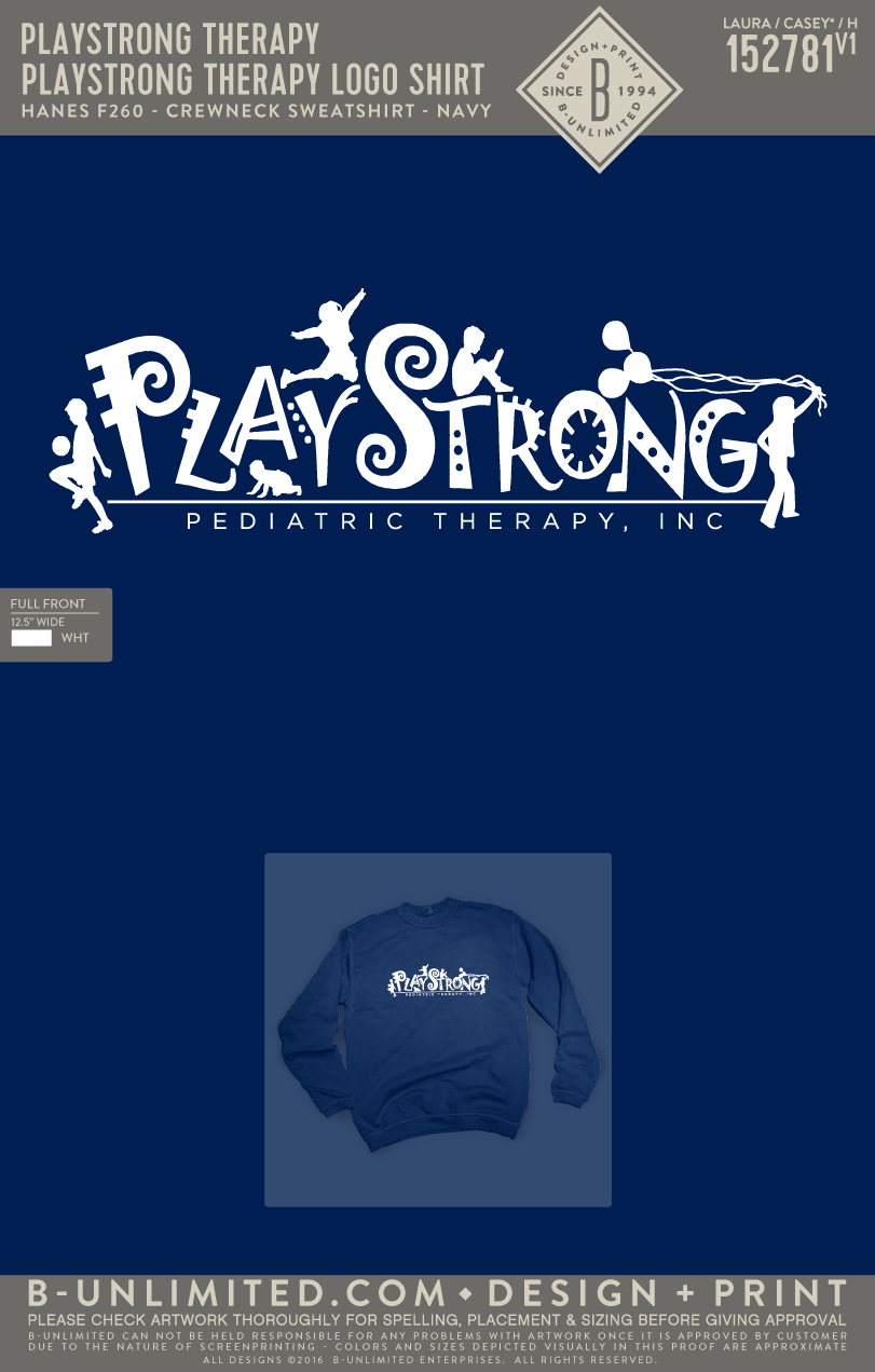Playstrong Therapy - Logo Shirt (Hanes Navy)