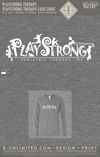 Playstrong Therapy - Logo Shirt (V-neck LS Grey)