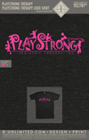 Playstrong Therapy - Logo Shirt (Heather black - Pink Ink)