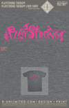 Playstrong Therapy - Logo Shirt (Deep Heather - Pink Ink)