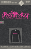Playstrong Therapy - Logo Shirt (V-neck LS Charcoal)