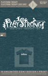 Playstrong Therapy - Logo Shirt (Heather Galapagos Blue)
