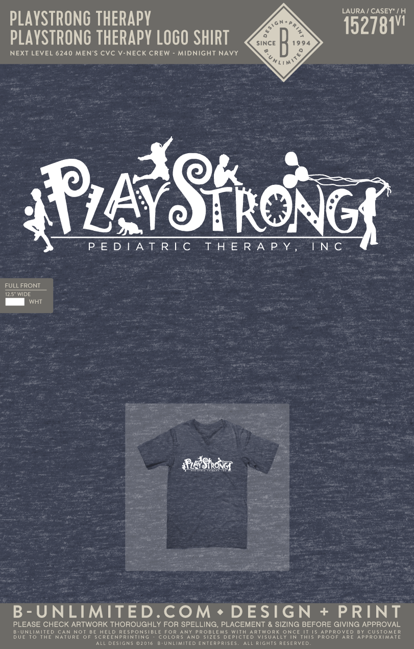 Playstrong Therapy - Logo Shirt (NL Midnight Navy)
