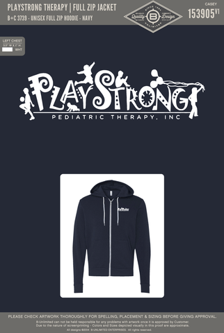 REORDER PlayStrong Therapy - Full Zip Jacket