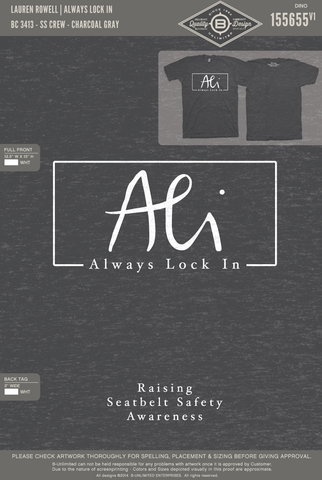 RO3 Lauren Rowell - Always Lock In (Charcoal Grey Tri-Blend)