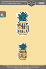 OU AXO - Pineapple Sticker (Pack of 3)