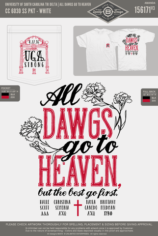 REORDER3 USC Tri Delta - All Dawgs Go To Heaven (Short Sleeve)