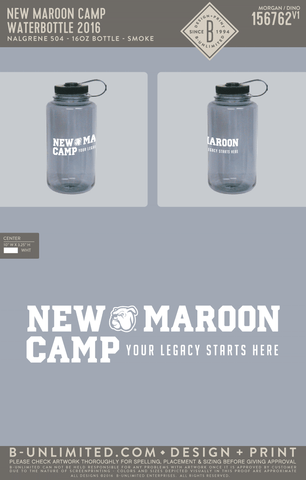 New Maroon Camp - Waterbottle 2016