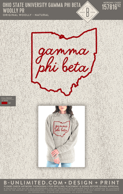 Gamma Phi Beta Beta Xi Chapter - Woolly PR