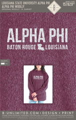 LSU Alpha Phi - Alpha Phi Woolly (Heathered Garnet)