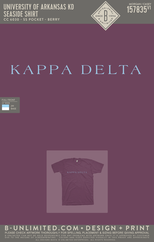 UofA KD - Seaside Shirt (Berry)