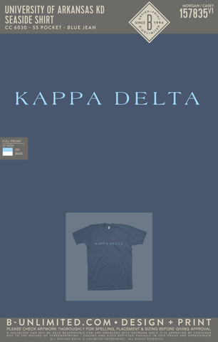 UofA KD - Seaside Shirt (Blue Jean)
