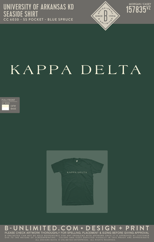 UofA KD - Seaside Shirt (Blue Spruce)