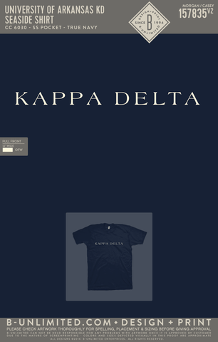 UofA KD - Seaside Shirt (True Navy)