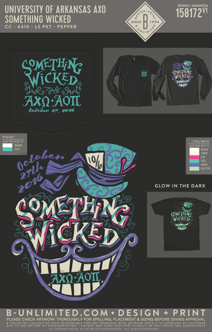 UofA AXO - Something Wicked (LONG SLEEVE PKT)