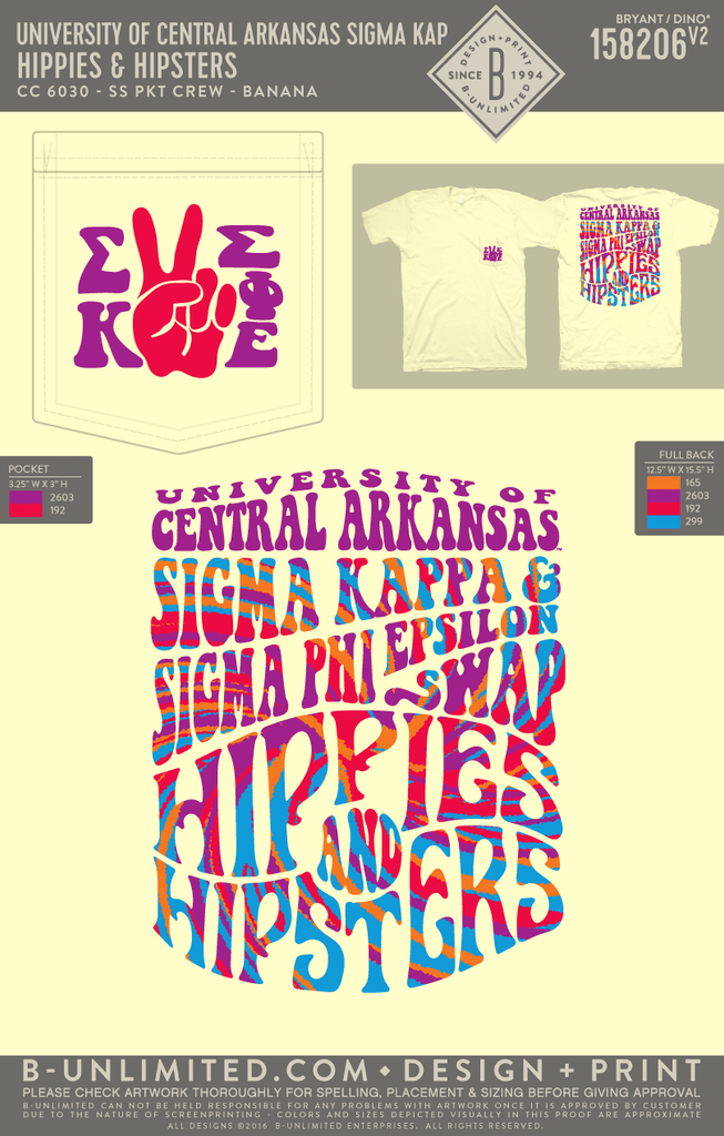 UCA Sigma Kappa - Hippies & Hipsters