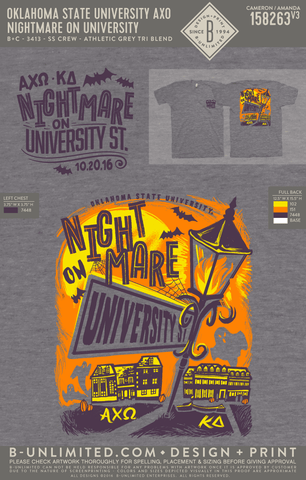 OSU AXO - Nightmare on University (Tri Blend)