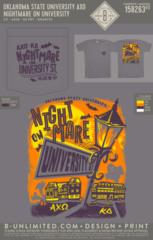 OSU AXO - Nightmare on University (Comfort Colors)
