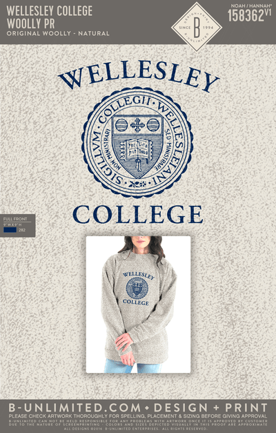 Reorder - Wellesley College - Woolly PR (Natural)