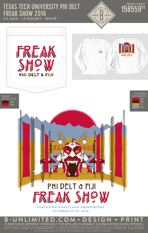 Texas Tech Phi Delt - Freak Show 2016