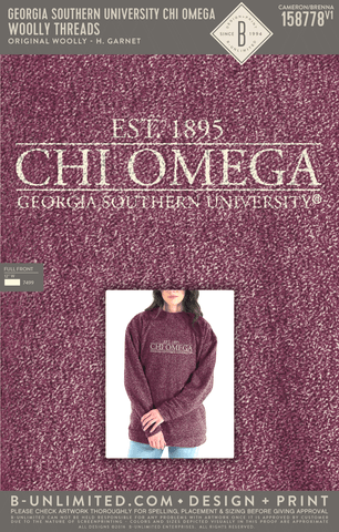 Georgia Southern Chi Omega - Woolly Threads (Garnet)
