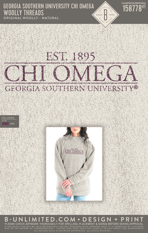 Georgia Southern Chi Omega - Woolly Threads (Natural)