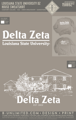 LSU DZ - House Sweatshirt (Comfort Colors SANDSTONE)