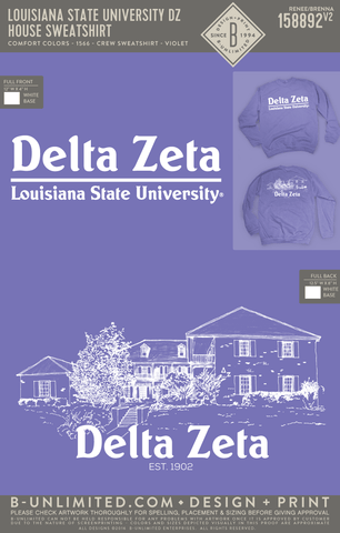 LSU DZ - House Sweatshirt (Comfort Colors VIOLET)