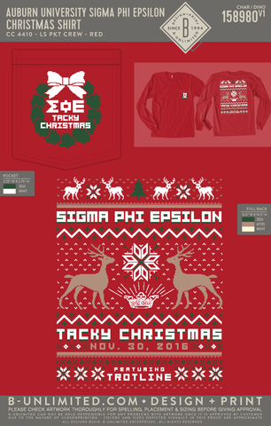 Auburn Sig Ep - Christmas Shirt (Red)