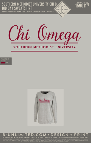 SMU Chi Omega - Bid Day Sweatshirt