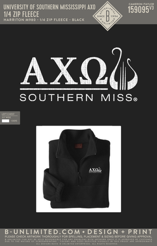 USM AXO - 1/4 Zip Fleece (Black)