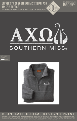 USM AXO - 1/4 Zip Fleece (Charcoal)