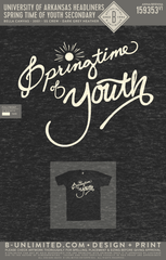 UofA Headliners - Springtime of Youth Secondary (Dk Grey)