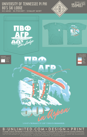Tennessee Pi Phi - 80's Ski Lodge (Chalky Mint)