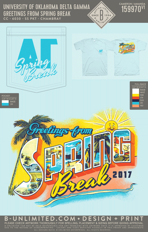 OU DG - Greetings from Spring Break (Chambray)