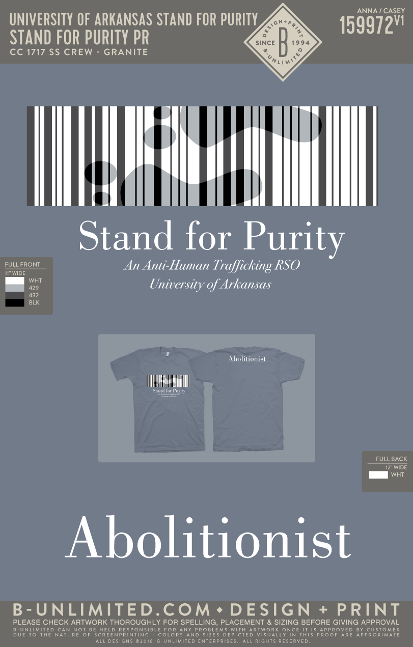 UofA Stand for Purity - Stand For Purity PR (Granite)