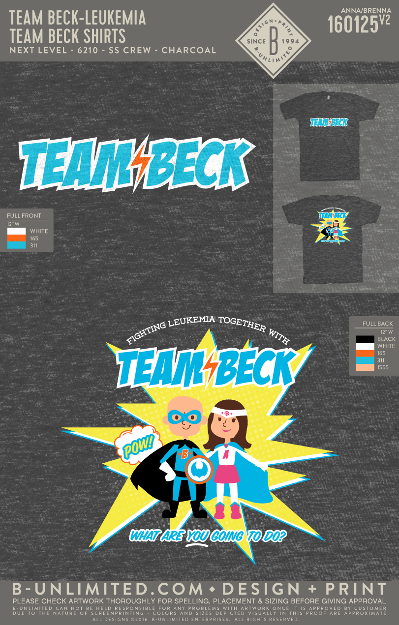 Team Beck - Team Beck Shirts (Adult Crew)