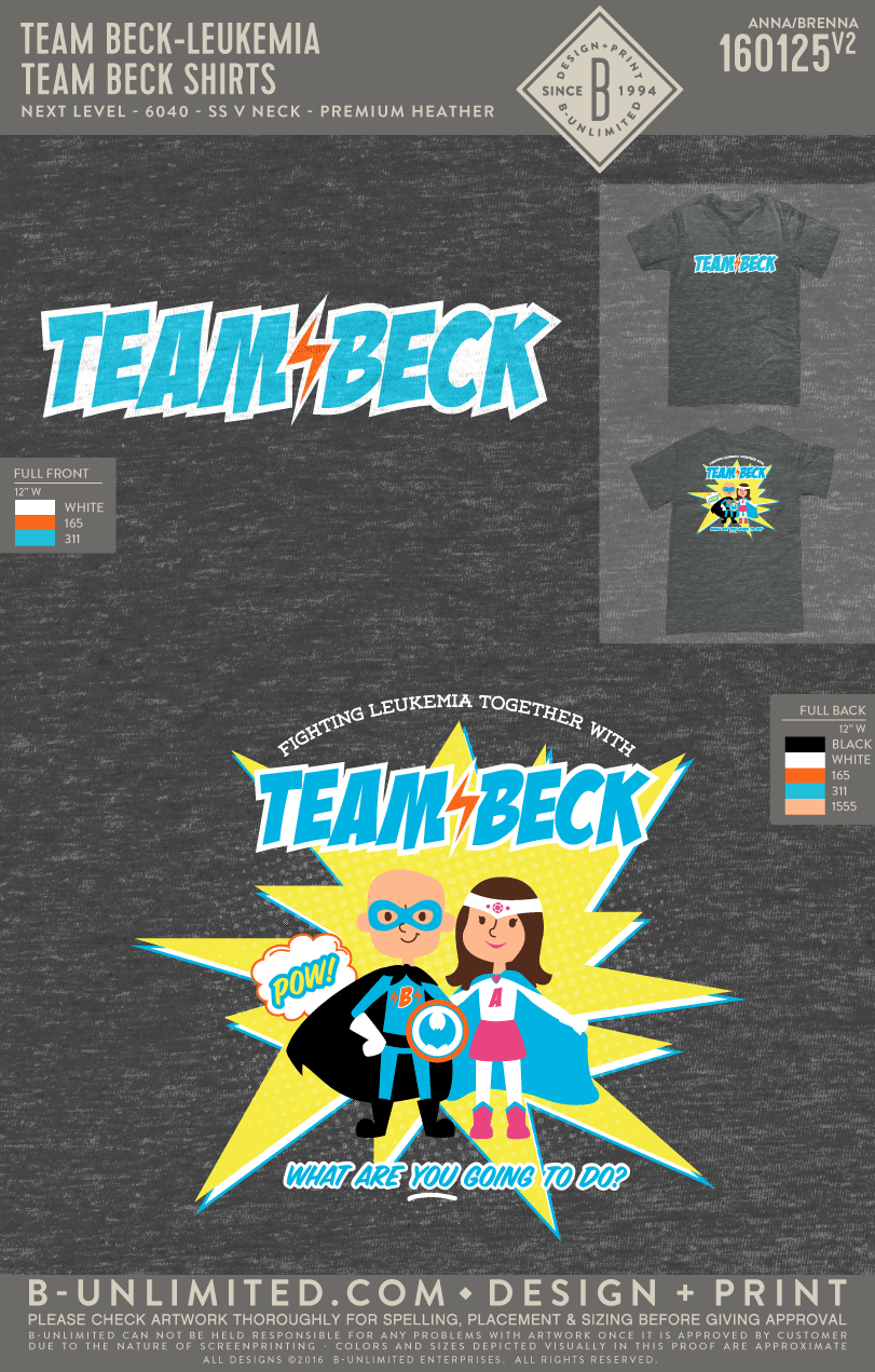 Team Beck - Team Beck Shirts (Adult V-Neck)