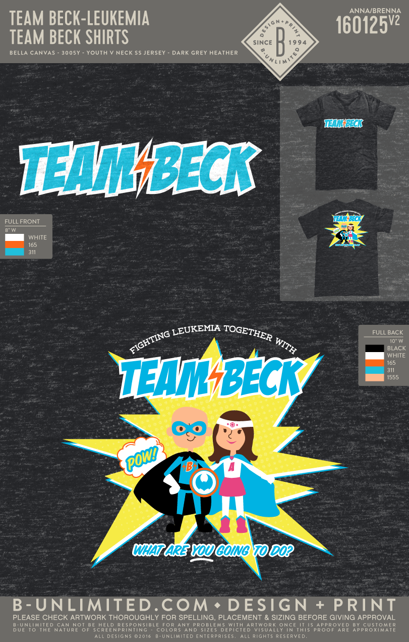 Team Beck - Team Beck Shirts (Youth V-Neck)