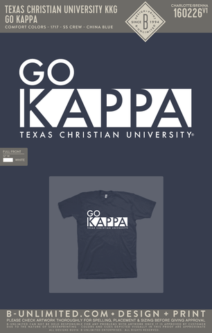 TCU KKG - Go Kappa (China Blue)
